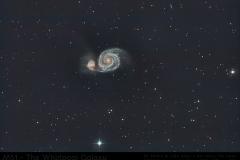 M51 Whirlpool Galaxie