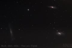 Leo-Triplet (M65, M66, NGC3628)