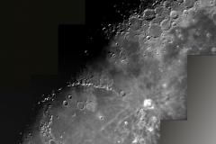 Mond-Mosaik aus 4 Bilder