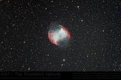 M27 (NGC 6835) Hantelnebel