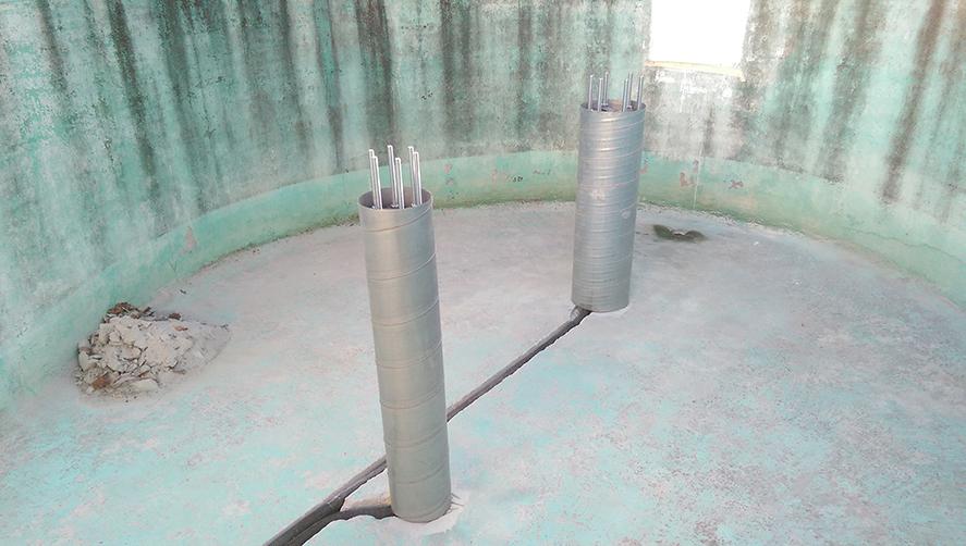 Ummantelte Säulen