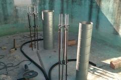 Innenaufbau der Säulen