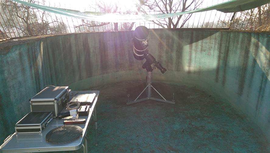 Sternwartenbau - Testaufbau
